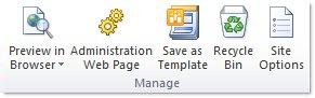 Vietnes, kas izveidotas, izmantojot SharePoint Designer 2010