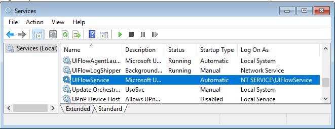 UIFlowService instalēts domēna kontrolleris