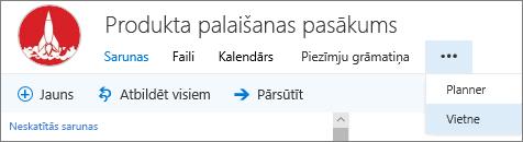 Grupas navigācijas josla programmā Outlook