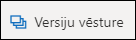 Poga versiju vēsture lentē pakalpojumā OneDrive