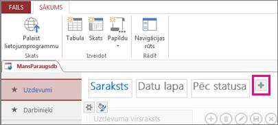 saraksta skata pievienošana no access klienta