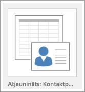 Datu bāzes veidnes opciju ikona