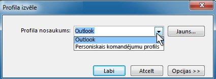 outlook profila atlases dialoglodziņš