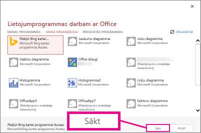 Programmu sistēmai Office dialoglodziņš