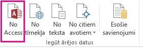 Cilnes Dati poga Access