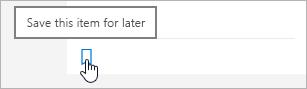 Noklikšķināšana uz ikonas, lai to saglabātu vēlāk
