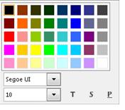 Fonta maiņas loga ekrānuzņēmums