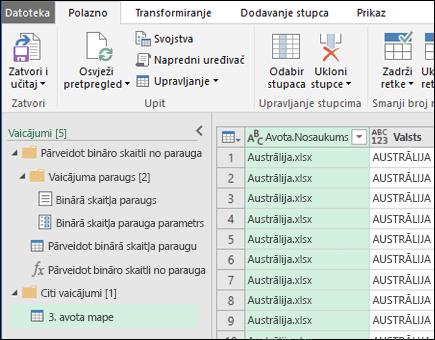 Dialoglodziņš Nodalījumu priekšskatījuma apvienošana. Nospiediet Aizvērt un & Ielādēt, lai akceptētu rezultātus un importētu tos programmā Excel.