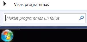 Programmu meklēšanas ekrānuzņēmums