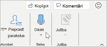 Diktēšana programmā Word