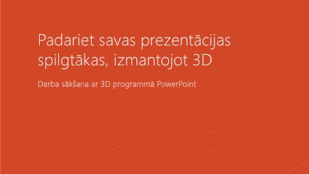 3D PowerPoint veidnes vāka ekrānuzņēmums