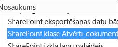 Iespējot SharePoint OpenDocuments klases ActiveX vadīklu