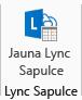 Ekrānuzņēmums ar jaunas Lync sapulces ikonu lentē