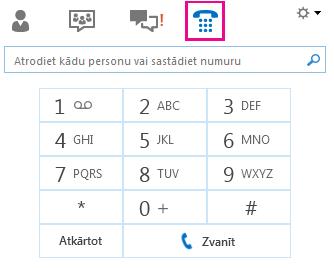 Numuru sastādīšanas tastatūras zvanīšanai kontaktpersonai ekrānuzņēmums