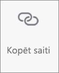 Poga Kopēt saiti pakalpojumā OneDrive darbam ar Android