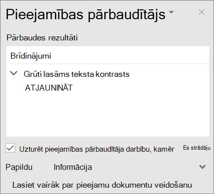 Pieejamības pārbaudītājs programmā Outlook