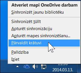 OneDrive for Business krātuves pārvaldība