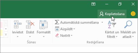 Kursors, kas klikšķina uz koplietošanas ikonas