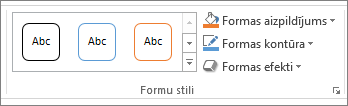 Formu stilu grupai programmā PowerPoint