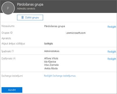 Ekrānuzņēmums: Kontaktpersonas pievienošana adresātu sarakstam