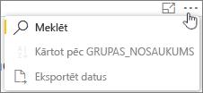 Ekrānuzņēmums: Eksportēt Kaizala atskaites datat uz. CSV failu