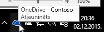 OneDrive darbam sinhronizācijas klients