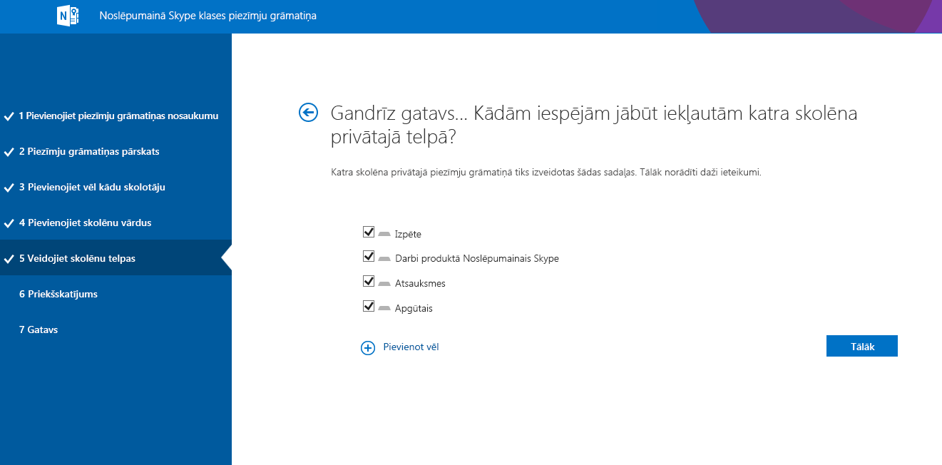 Atstarpju noformēšana produktā Noslēpumainais Skype