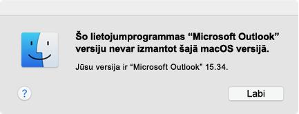"""Kļūda: """"Šo lietojumprogrammas versiju nevar izmantot"""""""