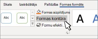 Poga Formas kontūra