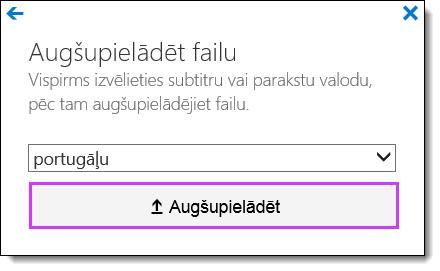 Office 365 video augšupielādes subtitri
