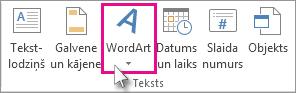 Noklikšķiniet, lai pievienotu WordArt