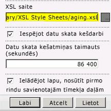 Ielīmēta XSL faila saite