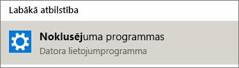 Noklusējuma programmas operētājsistēmā Windows
