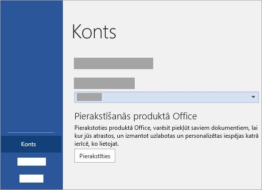 Pierakstieties ar savu Microsoft Account vai Office 365 darbavietas vai mācību iestādes kontu.