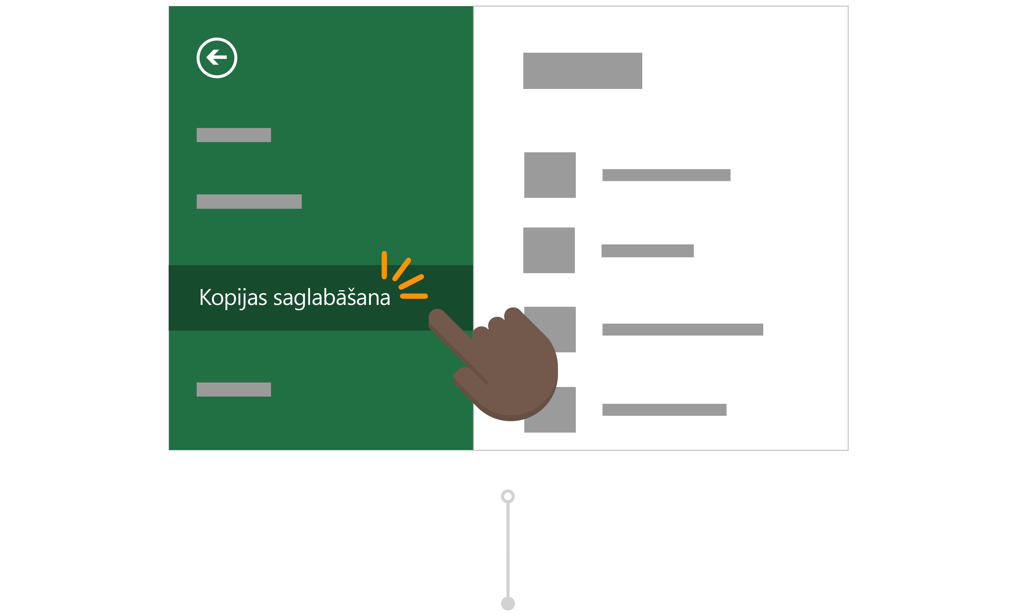 Todd izmanto saglabāt kopiju saglabāt savas atskaites versiju savu OneDrive.