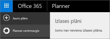 Skatā Planner izvēlieties jaunu plānu.