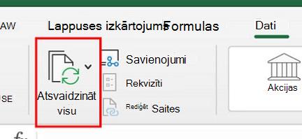 Power Query lietošana programmā Excel darbam ar Mac