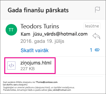 OME skatītājs programmai Outlook darbam ar iOS 1