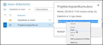 SharePoint dokumenta vietrādis URL dokumenta remarkā