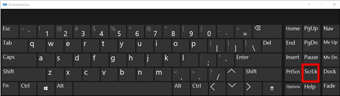 Windows 10 ekrāntastatūra ar SCROLL LOCK