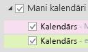 Jūsu kalendāri ir norādīti sadaļā Mani kalendāri. Atzīmējiet to kalendāru izvēles rūtiņas, kurus vēlaties skatīt.