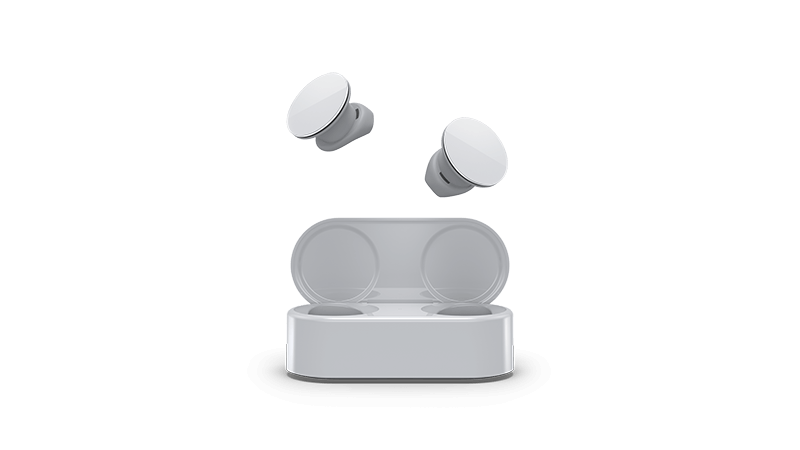 Surface earbuds ierīces fotoattēls