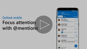 Fokusa sīktēls ar @mentions video klikšķi