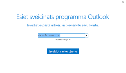 Outlook sveiciena logs