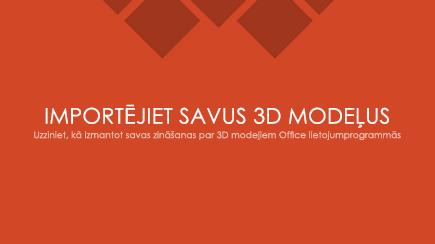 3D PowerPoint veidnes virsraksta slaida ekrānuzņēmums