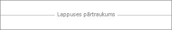 Lappuses pārtraukums pakalpojumā Word Online