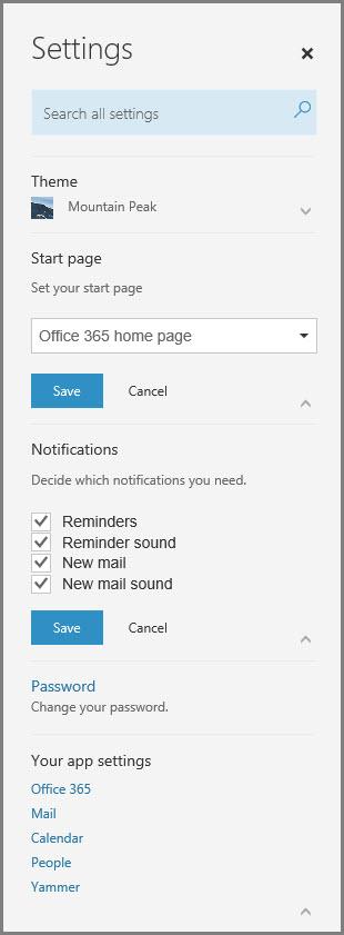 Office 365 paziņojumi