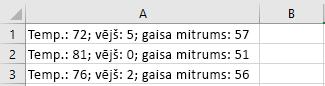 Šūnas programmā Excel