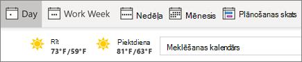 Skatu mainīšana Outlook kalendārā