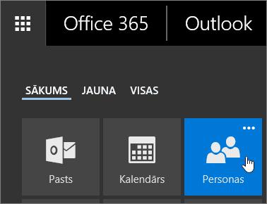 Kursors novietots uz elementa personas Office 365 lietojumprogrammu ikonā ekrānuzņēmums.
